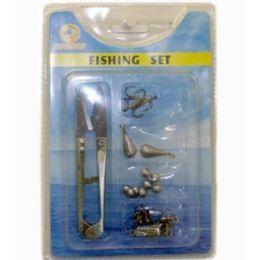 120 Wholesale 5 Pieces Fishing Set Scissor Hooks Pear