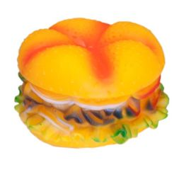 120 Units of Squeeze Toy Hamburger 13cm - Pet Toys