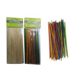 144 Units of 100pc Craft Dowels - Craft Wood Sticks and Dowels