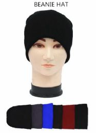 72 Units of Adults Winter Beanie Hat Assorted Colors - Winter Beanie Hats