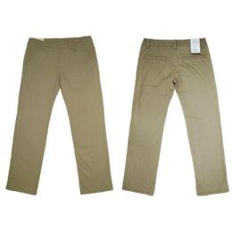 12 Units of Girls Stretch Adj. Waist Twill School Pants Size 4 - Girls Jeans
