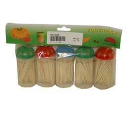 72 Units of 5 Pack Toothpick - Toothpicks