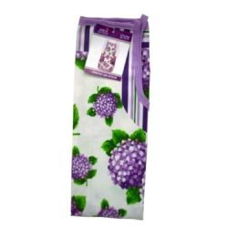 72 Units of Purple Flowers Style Apron 22x32in - Kitchen Aprons