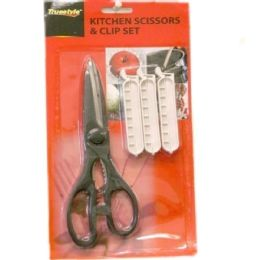 96 Bulk 1 Piece Scissor & 3pc Clips