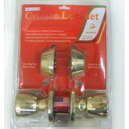 24 Wholesale Double Deadbolt Combo Door Lock