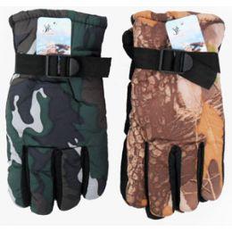 36 Units of Adult Camouflage Ski Gloves - Ski Gloves