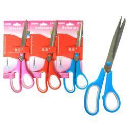 """144 Bulk Scissors 1 Pair 9.5"""" 3 Clr"""