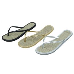 96 Units of Women's Bamboo Flip Flop - Women's Flip Flops
