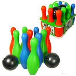 12 of Plastic Bowling Sets W/carrying Case