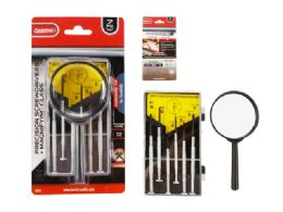 96 Units of 7pc Precision Screwdrivers + Magnifying Glass - Screwdrivers and Sets