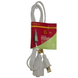 75 Units of 6ft White Extension Cord - Electrical
