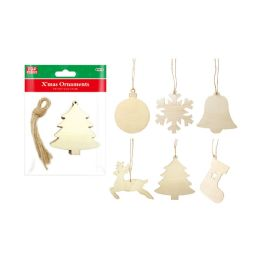 48 Units of Wooden Craft Ornaments - Christmas Ornament