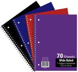 48 Bulk 1 Subject 70 Sheet Notebook Wide Ruled