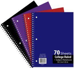 48 Bulk 1 Subject 70 Sheet Notebook College Ruled