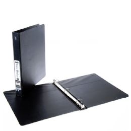 12 Units of 1 Inch View Binder With Inner Pockets Black1 - Clipboards and Binders