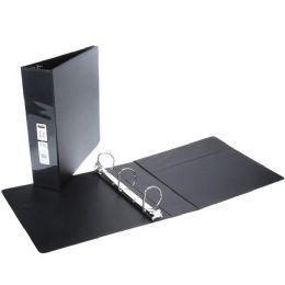 12 Units of 2 Inch View Binder With Inner Pockets Black - Clipboards and Binders
