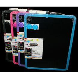 24 Wholesale Dry Erase Magnetic Black Board 11x14in