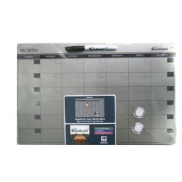 24 Bulk Dry Erase Calendar Board Silver 11x17in
