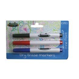 48 Bulk Dry Erase Markers 3ct Black, Blue, Red
