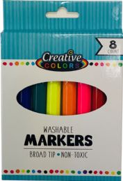 48 Bulk 8 Ct Washable Broad Tip Markers