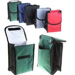 24 Units of Lunch Bag Insulated With Velcro Close And Caribiner Clip - Lunch Bags & Accessories