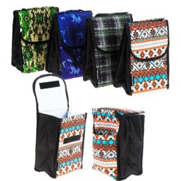 24 Units of Lunch Bag Insulated With Velcro Close And Caribiner Clip Heritage - Lunch Bags & Accessories