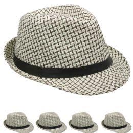 48 Units of Classic Cuban Style Crushable Trilby Fedora Hat - Fedoras, Driver Caps & Visor