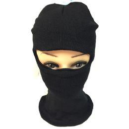 12 Units of Unisex Black Ski Hat/mask One Size Fits All - Unisex Ski Masks