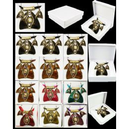 96 Units of European Pendant Set Assorted Color - Necklace Sets