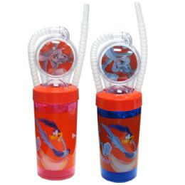 48 Wholesale Looney Tunes Straw Cup Wheel 11oz