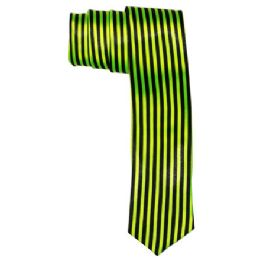 72 of Men's Green And Black Striped Tie