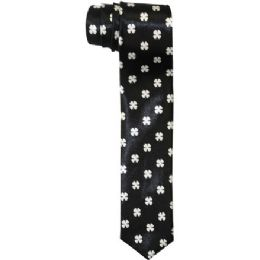 96 of Men's Slim Black Tie With Design