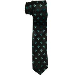 96 of Men's Slim Black Tie With Pattern