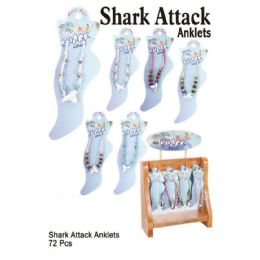 72 Units of Shark Attack Anklets - Ankle Bracelets