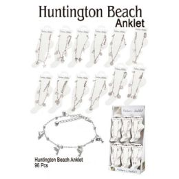 96 Units of Huntington Beach Anklet With Charms - Ankle Bracelets
