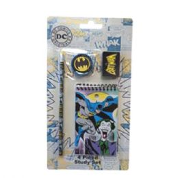 96 Bulk Stationery Set 4pk Dc Comics