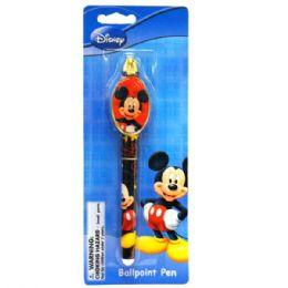 48 Bulk Clip Pen Die Cast Mickey