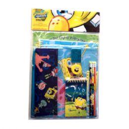 24 Bulk 11pc Stationery Set Sponge Bob