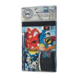 24 Bulk 7pc Stationery Set Dc Comics