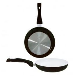 8 Units of 8 Inch Ceramic Fry Pan Black - Frying Pans and Baking Pans