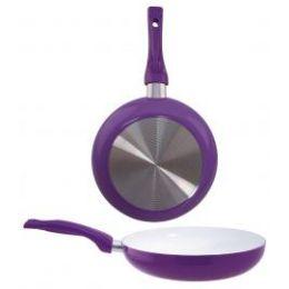 8 Units of Ceramic Fry Pan Purple - Frying Pans and Baking Pans