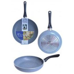 8 Units of Non Stick Marble Fry Pans Grey - Frying Pans and Baking Pans
