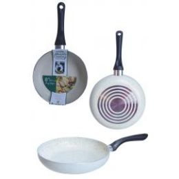 8 Units of Non Stick Marble Fry Pans Beige - Frying Pans and Baking Pans
