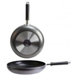 12 Units of Non Stick Speckled Aluminum Fry Pan With Grip Handle - Frying Pans and Baking Pans