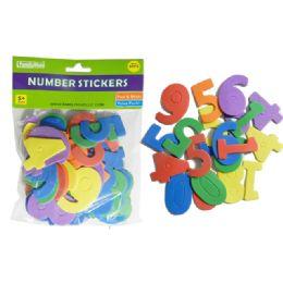 96 Units of 80 Pc Craft Foam Number Stickers - Foam & Felt
