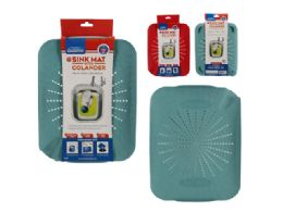 24 Units of Flat Sink Mat Colander - Strainers & Funnels