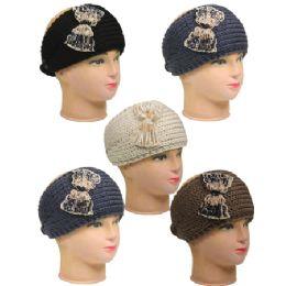 36 Units of Knitted Women Woolen Headband - Fashion Winter Hats