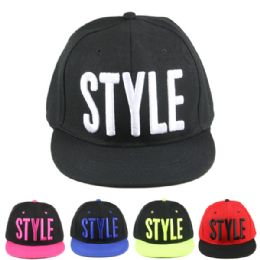 24 Units of Cap 175 Style Asst - Hats With Sayings