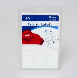 72 Bulk No Iron White 45ct Writeable Fabric Labels