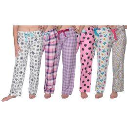 36 Units of Ladies Flannel Pajama Bottoms - Womens Pants